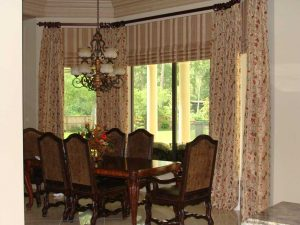 custom kitchen window treatment
