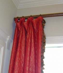 window treatment with pleat