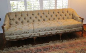 tufted sofa refurbished